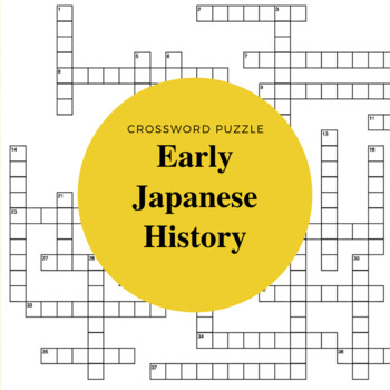 Early Japanese History Crossword Puzzle