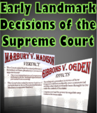 Early Landmark Supreme Court Cases