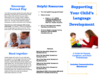 Early Language Brochure for Parents