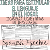Early Language Ideas for Home in Spanish- Early Interventi