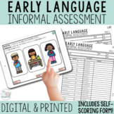 Early Language Informal Assessment- Early Intervention Spe