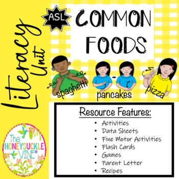 ASL Language Unit Food Pre-K & Kindergarten
