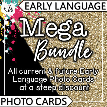 Language Therapy Activities: Speech Therapy Early Language Picture Flashcards