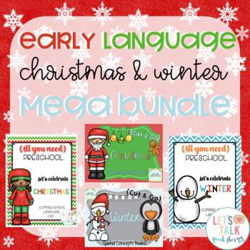 Early Language Preschool Christmas and Winter Bundle #dec2017slpmusthave