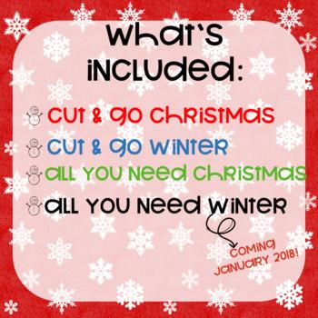 Early Language Preschool Christmas and Winter Bundle