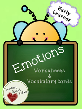 Early Learner Emotions Vocab, Games/Activities, & Worksheets