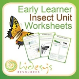 Early Learner Insect Unit Worksheets.