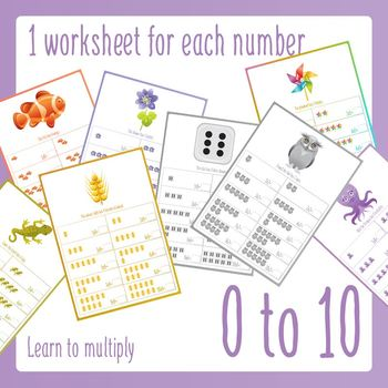 Early Learner Introduction to Multiplication Worksheets
