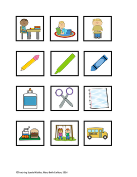 Early Learner Read Through the Classroom Word to Picture Match Adapted Book