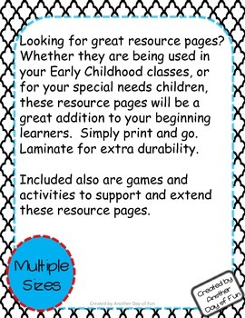 Early Learner Resource Pages