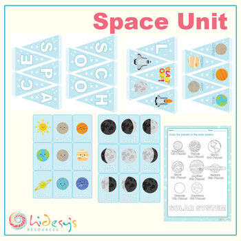Early Learner Space / Astronomy Unit Worksheets