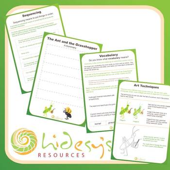 """Early Learner """"The Ant and the Grasshopper"""" Unit Worksheets."""