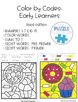 Early Learners Color by Code- Food Edition