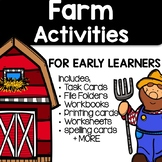 Literacy and Math Centers For Early Learners - Farm Themed