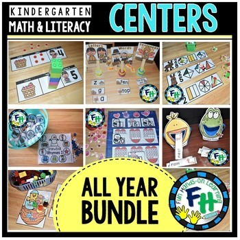 Early Learners Seasonal Math & Literacy Activity Centers LEVEL A {BUNDLE}
