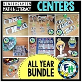 Kindergarten Math & Literacy Activity Centers for the Year BUNDLE