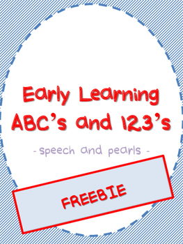 Early Learning ABC's and 123's FREEBIE