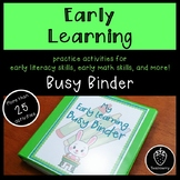 Early Learning Busy Binder
