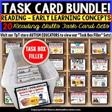 Early Learning Concepts READING Task Card Bundle for Special Education