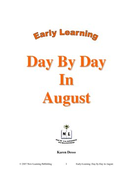 Early Learning: Day by Day in August