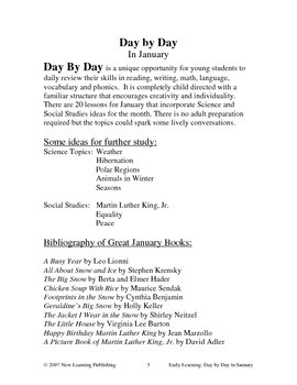 Early Learning: Day by Day in January
