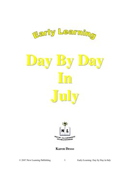 Early Learning: Day by Day in July