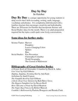 Early Learning: Day by Day in October