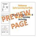 Early Learning Halloween Thinktivities