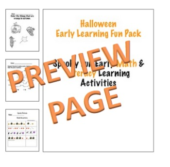 Early Learning Halloween Thinktivities