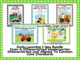 Early Learning I-Spy Bundle-Differentiated Math/Literacy Common Core