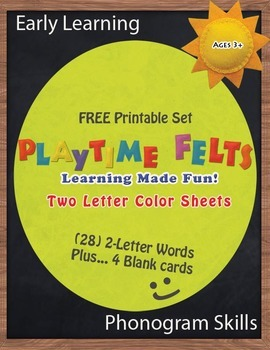 Early Learning Phonogram Skills: Two-Letter Word Cards