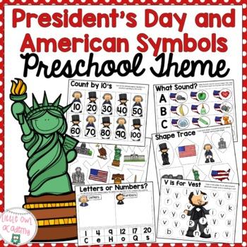 President's Day Preschool Packet