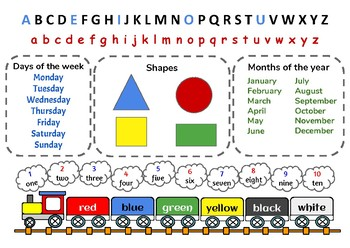 Early Learning Table Mat