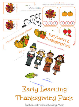 Early Learning Thanksgiving Pack