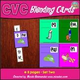 CVC Blending Cards - Early Learning Word Slides - Set 2