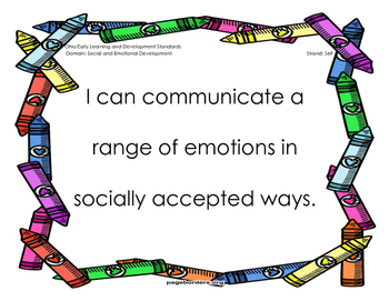 Early Learning and Content Standards-Social and Emotional Development