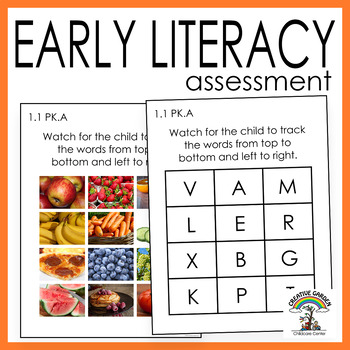 Early Literacy Assessment - Print Tracking Skills