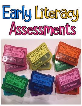 Early Literacy Assessments {Kindergarten}