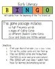 Early Literacy BINGO with beginning Fry Words