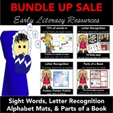 Early Literacy BUNDLE: Letter Recognition, Sight Words, an