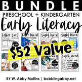 Early Literacy Bundle for Preschool and Kindergarten Dista
