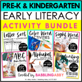 Early Literacy Bundle for Preschool and Kindergarten Dista