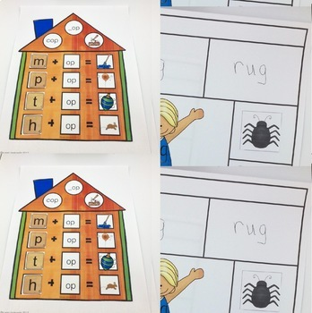 Early Literacy Bundle with CVC and CVCC Words with Rhyming Dust Bunnies