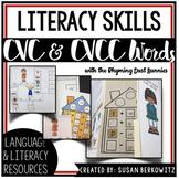 Early Literacy Bundle with CVC and CVCC Words using Rhyming Dust Bunnies