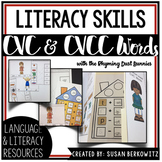 Early Literacy Bundle with CVC and CVCC Words using Rhymin