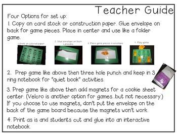 Early Literacy Games (Easy Prep)