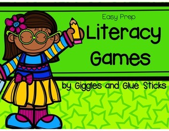 Early Literacy Games (Easy Prep)