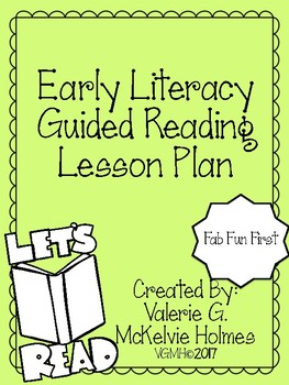 Early Literacy Guided Reading Plan