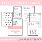 Early Literacy: Letter Practice Pages