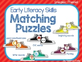 Early Literacy Matching Puzzles- Sneaker theme for those who love Pete the Cat!